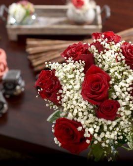 Roses&Gypsophila_Bouquet